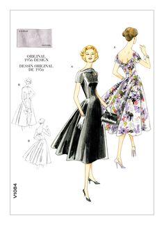 Barbie Clothes Patterns, Dress Sewing Patterns, Vintage Sewing Patterns, Clothing Patterns, Sewing Ideas, Vogue Patterns, Wedding Dress Patterns, Original Vintage, Calf Length Dress