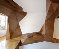 faceted interior liner/storage/surfaces  Skew Collaborative