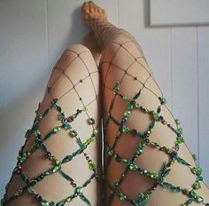 Stunning Fishnet Tights Will Make You Feel Like A Mermaid On Earth New York based artist Lirika Matoshi creates stunning fishnet tights, that are beautifully embellished with faux flowers, stones,. Fishnet Tights, Fishnet Stockings, Costume Carnaval, Bas Sexy, Steampunk Cosplay, Lesage, Fairy Princesses, Mode Style, Hosiery
