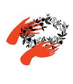"""Hands"" print from Karolin Schnoor, $30 (found via DesignSponge)"