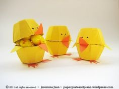 Cute Easter Chicks (Tutorial)  www.itswrittenonthewall.com