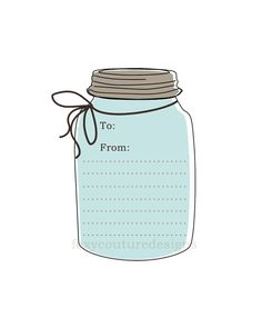 Printable DIY  Mason Jar Tags/Labels  by FoxyCouturePaperCuts, $4.00