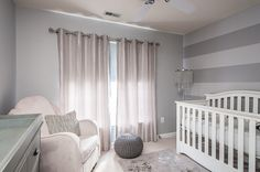 Gray with a touch of silver in the nursery [Design: Interior Style by Marisa Moore]