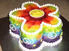 Tie dye Flower — Birthday Cakes