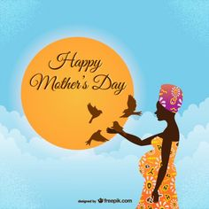 Happy mother's day african style Free Ve. Mother's Day Background, Mather Day, Mom Poems, Happy Mother S Day, Free Vector Graphics, African Fashion, African Style, Illustration, 303