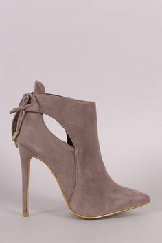 Back Lace-Tie Stiletto Booties