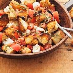 Grilled Panzanella Salad, a recipe from ATCO Blue Flame Kitchen's From the Grill 2014 cookbook.
