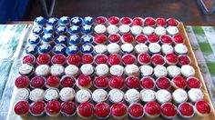 American Flag Cupcake Cake perfect for Military Appreciation Day on Oct. 13, 2012 vs. Wofford at Paulson Stadium.