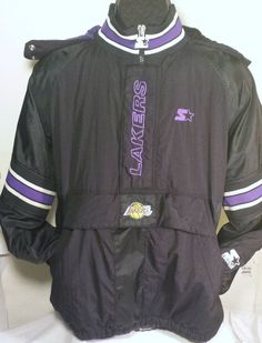 Vintage Los Angeles Lakers Mens Size XL Pullover Starter Jacket #nba #Starter #LosAngelesLakers
