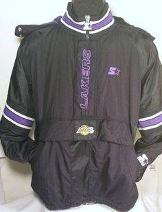 Vintage Los Angeles Lakers Mens Size XL Pullover Starter Jacket #nba #Starter #LosAngelesLakers