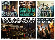 We are so excited to announce that Revolution, Grimm, Chicago Fire, Parenthood, and Law & Order: SVU will all be BACK next season!