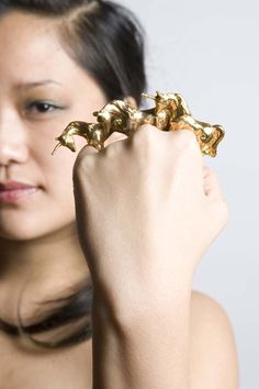 The Unicorn Ring by Fleathers. Would make a mystifying weapon as well
