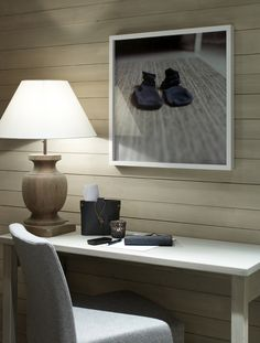 hee hee the sock art, okay, I like the lamp too : ) House, Interior, Lamp, Nordic Home, Home Decor, Chalet Style