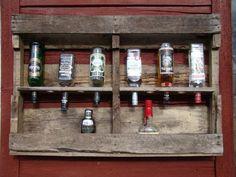 botellero de bar con palets reciclados