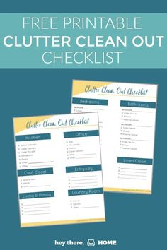 Set goals for your decluttering with this free printable clutter clean out checklist to simplify your home and get organized! Funky Home Decor, Diy Home Decor, Organization Hacks, Organizing, Declutter Your Home, Get The Job, Time Management, Getting Organized, Decoration