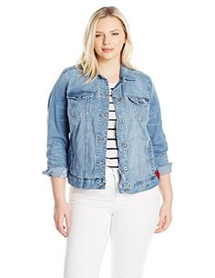 """Lucky Brand plus long sleeve denim jacket with two pocket detail       Famous Words of Inspiration...""""Experience proves this, or that, or nothing, according to the preconceptions we bring to it.""""   C.S. Lewis — Click here for more from C.S....  More details at https://jackets-lovers.bestselleroutlets.com/ladies-coats-jackets-vests/denim-jackets/product-review-for-lucky-brand-womens-plus-size-classic-denim-jacket/"""