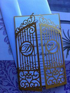 Laser Cut Wedding Invitation Die Cut Monogram by CelineDesigns, $9.99