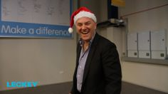 CEO James Leckey addressing the staff for Xmas