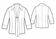 Blouse  - Sewing Pattern #5754 Made-to-measure sewing pattern from Lekala with free online download.