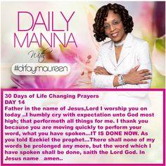 Daily Manna #198 THIRTY DAYS OF LIFE CHANGING PRAYERS