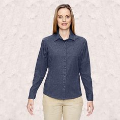 Ash City-North End-Ladies Excursion Utility Two-Tone Performance Shirt-77045