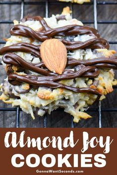 Our Almond Joy Cookies are everything you love in the candy bar in an easy to make cookie. Loaded with coconut, almonds and the right amount of chocolate!