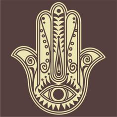 The Hamsa with the eye helps ward off the Evil Eye!