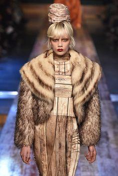 Jean Paul Gaultier, Paris.  #fur #fashion #hautecouture #AW16