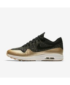 Buy authentic Nike Air Max 1 Ultra Flyknit Metallic Black Metallic Gold  Star Flat Opal Womens Shoes - only Fast shipping on all latest Nike  products. 0d3ff4541