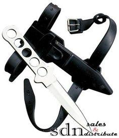 Razor Back Steel Diver's Knife w/ Ankle Sheath $10.47
