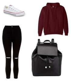 """Untitled #18"" by madisonb705 on Polyvore featuring Hanes, New Look, Converse and Barneys New York"