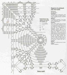 Crochet Knitting Handicraft: Square doily