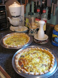 Thursday night quiche in my kitchen, via Flickr.