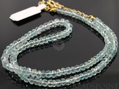 Natural ''NO TREATMENT'' Aquamarine Micro Faceted by Beadspoint, $125.99