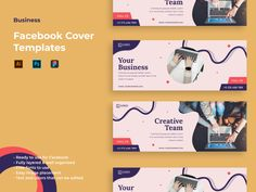 Change any Facebook cover designs in the appropriate dimensions. Forget the time wasted for various actions editing your design. Just add your logo, text and photos - that's all. Additionally, in one click you receive 2 different sized images.  ** Highlights **  Ready to use for Facebook,  Fully layered & well organized,  High resolution,  Free fonts used,  All shapes are vector based.,  Editable text and colors,  ** Included Files **  Eps 10 File,  Illustrator,  Photoshop,  Documentation Facebook Cover Photo Template, Facebook Cover Design, Facebook Cover Images, Fb Banner, Facebook Banner, For Facebook, Cover Photo Design, Page Design, Photo Templates Free