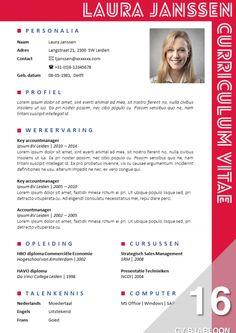 Opvallend CV sjabloon, eenvoudig zelf te bewerken in MS Office. Direct downloadbaar. http://deleydsche.nl/product/cv-sjabloon-16