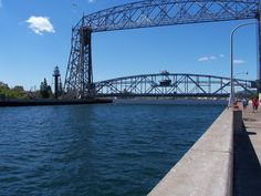 Aerial Lift Bridge, Duluth Minnesota. Our room was to the right of where the people are.  &