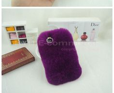 New Bling Soft Rabbit Fur Back Case Cover For Samsung Galaxy Note 4