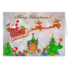 Wish a Merry Christmas to loved ones this holiday season with Christmas cards from Zazzle! Festive greeting cards, photo cards & more. Christmas Images Free, Christmas Tree And Santa, Christmas Holidays, Christmas Stuff, Christmas Decorations, Christmas Greeting Cards, Christmas Greetings, Holiday Cards, Advent