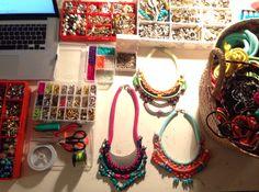 New necklace soon. Nautical cord + colourfull stones. Hanade By carolina Bernardo