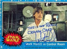 """The most important thing for fans to know is that a Mark Hamill autograph can be whatever you want it to be. 