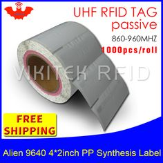 UHF RFID tag sticker Alien 9640 EPC6C PP synthetic waterproof label 860-960MHZ 1000pcs free shipping adhesive passive RFID label #Affiliate