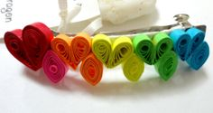 Quilled rainbow with love paper filigree by Alohadragon on Etsy, $10.00