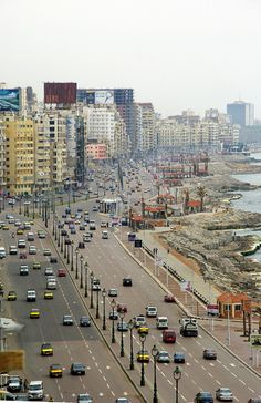 View of the Cornich in Alexandria, EGYPT.