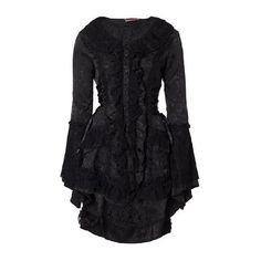 Victorian Brocade Satin Damask Gothic Steampunk Lace Frock Jacket ($53) ❤ liked on Polyvore featuring outerwear, jackets, lace jacket, satin jacket, steampunk jacket, brocade jacket and steam punk jacket