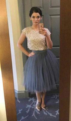 25ec579d88 Grey Tulle skirt. Tulle skirt. Woman tulle skirt. Tea length tulle skirt. Tutu  skirt. Woman skirt. M
