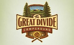 While not really retro, this is a woodcut style custom illustrated logo design for a campground in Newton, NJ.