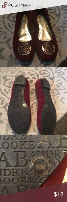 Shoes by Audrey brooke Gorgeous burgundy colored flats by Audrey Brooke. In excellent condition. I think I wore these twice Audrey Brooke Shoes Flats & Loafers
