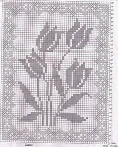 Irish lace, crochet, crochet patterns, clothing and decorations for the house, crocheted. Filet Crochet Charts, Crochet Cross, Crochet Diagram, Thread Crochet, Irish Crochet, Crochet Curtains, Crochet Tablecloth, Crochet Doilies, Cross Stitch Embroidery