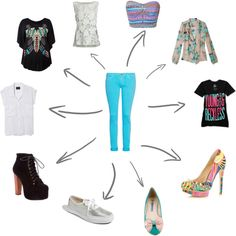 """""""Tirquoise Jeans!"""" by dominiquee920 on Polyvore"""